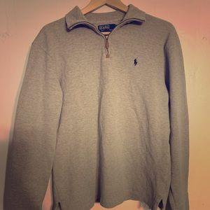Polo 1/4 zip Grey sweatshirt